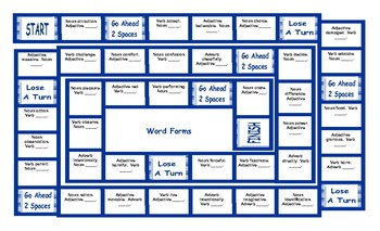 Word Forms Board Game