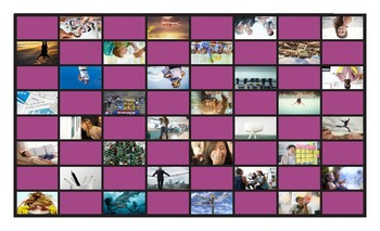 Word Forms Legal Size Photo Checkers Game