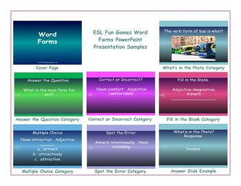 Word Forms PowerPoint Presentation