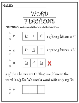 Word Fractions