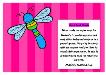 Word Fun task cards