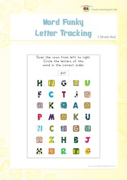 Word Funky Letter Tracking (1st Grade)