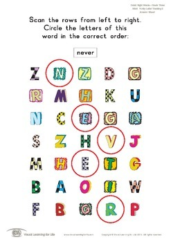 Word Funky Letter Tracking (3rd Grade)