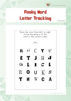 Word Funky Letter Tracking (Kindergarten)