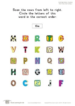 Word Funky Letter Tracking (Pre-K)