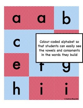 Word Game Boggle and alphabet cards (blue and red)