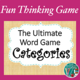 Word Categories Game - Great End of the Year or Back to Sc