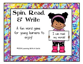 Quick and Easy Literacy Center! ~ Word Game ~ Spin, Read, and Write