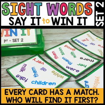 LITERACY CENTERS 1st Grade High Frequency Words [SPOT THAT WORD - Unit 2]