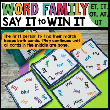 LITERACY CENTERS Word Families et, it, ot, at, ut [SPOT THAT WORD]