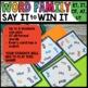 Spot that word -  Word Families et, it, ot, at, ut