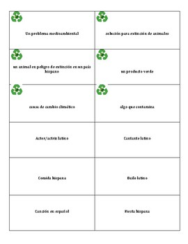 Word Game with Letter Tiles for IB Spanish, Spanish 3, or Spanish 4, AP , ESL