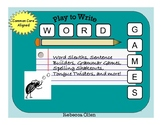 Word Games Writing Activity Book