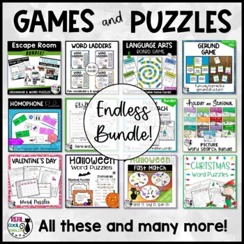 Word Games and Puzzles Mega Bundle
