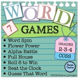 Word Games for ANY spelling, vocabulary or word work list