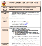 Word Generation Series 2: Topic 2.01 - ELA Launch Lesson P