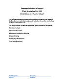 Word Generation 3.01 Supplemental Activities