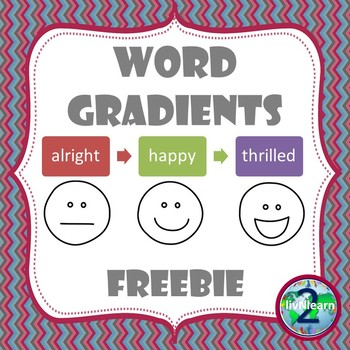 Word Gradients- A Vocabulary Activity FREEBIE!