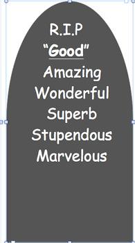 Word Graveyard Display Template