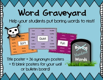 Word Graveyard - Synonym Posters