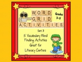 Vocabulary Word Grid Activities Set 3 Great for Word Work Centers