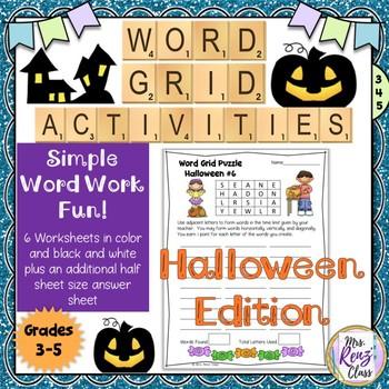 Halloween Word Work and Halloween Vocabulary Activities (5 days)