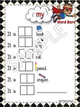 Word Hero Folder Sheets