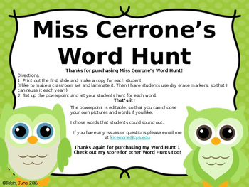Word Hunt 1