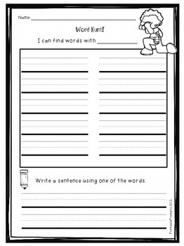 Word Hunt Templates