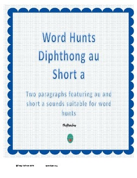 Word Hunt AU vs Short A