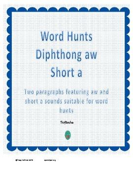 Word Hunt AW vs Short A