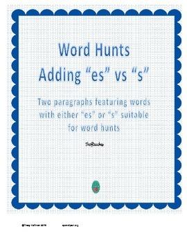 "Word Hunt Adding ""es"" vs ""s"""