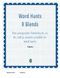 Word Hunt BR, CR, DR, and GR Blends