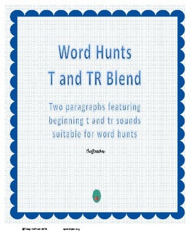 Word Hunt Beginning T vs TR