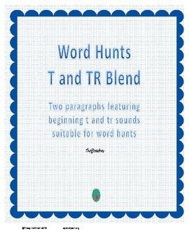 Word Hunt Beginning T vs TR