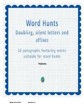Word Hunt Bundle doubling, silent letters, affixes