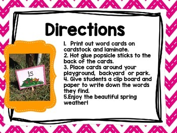 Word Hunt Cards