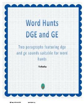 Word Hunt DGE vs GE