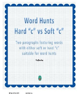 "Word Hunt Hard ""c"" vs Soft ""c"""