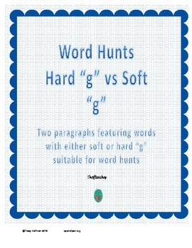 "Word Hunt Hard ""g"" vs Soft ""g"""