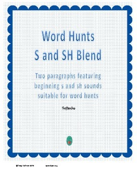 Word Hunt Initial S vs SH