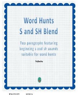 Word Hunt Initial S vs SH