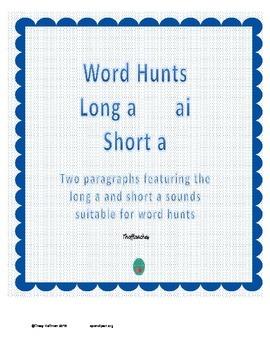 Word Hunt Long A ai vs Short A