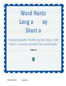 Word Hunt Long A ay vs Short A