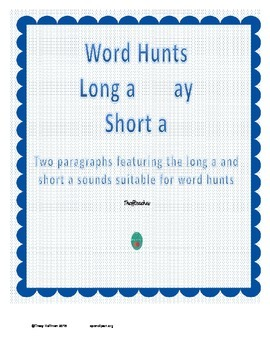 Word Hunt Long A ay vs Short A