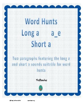 Word Hunt Long A silent e vs Short A