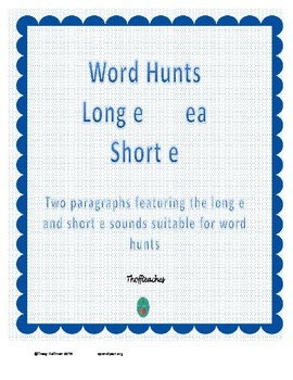 Word Hunt Long E ea vs Short E