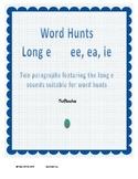 Word Hunt Long E ee, ea, ie