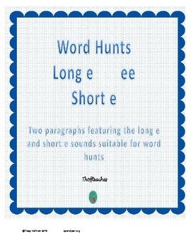 Word Hunt Long E ee vs Short E