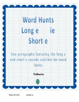 Word Hunt Long E ie vs Short E